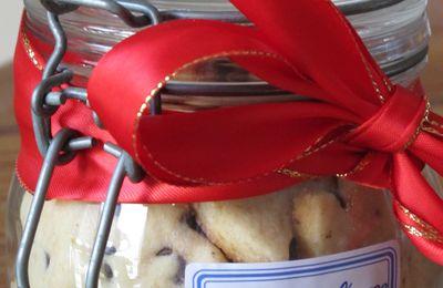 Les bocaux de Noël : Sablés à l'orange et au chocolat