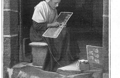 brodeuse Douarnenez Bretagne début 1900