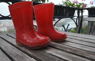 Bottes de pluie rouge - G&G - Pointure 20