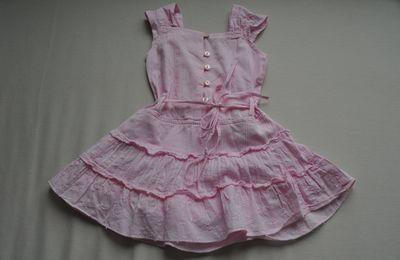 Robe d'été rose - 6 mois