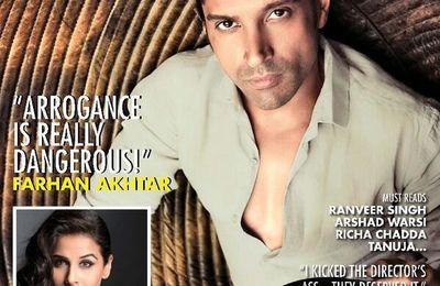 Farhan Akhtar en couverture du magazine CineBlitz pour février 2014
