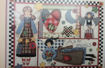 "Kit de broderie ""Brian Jackins"" Rustic angels"
