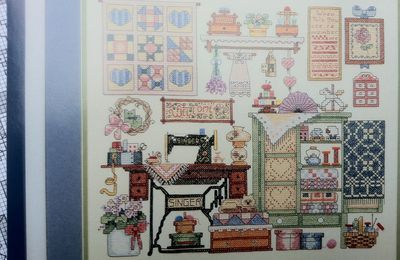 """Kit de broderie Sunset """"Cozy sewing room"""""""