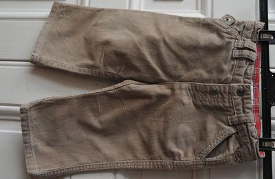 Pantalon velours marron - Verbaudet - 18 mois