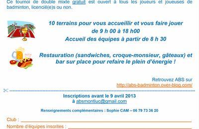 Tournoi loisirs - St Etienne de Montluc - le 14 Avril 2013