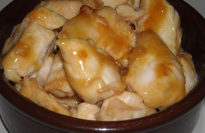 sauté de poulet miel/cancoillotte