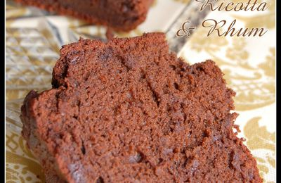 Cake léger au Chocolat, Ricotta & Rhum