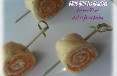 BOUCHEES SAUMON FUME - FROMAGE AIL ET FINES HERBES
