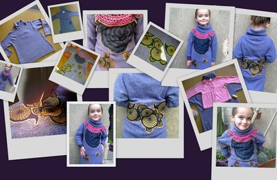 Transformer un grand pull en robe de petite fille
