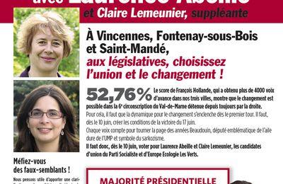 Gauche et Ecologistes unis pour la victoire de Laurence Abeille