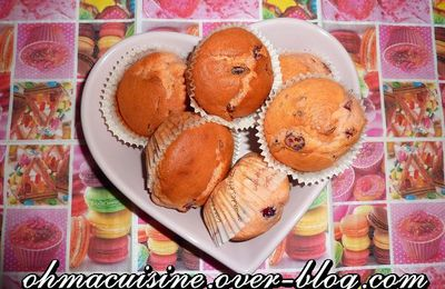 Muffins cranberries et grenadine