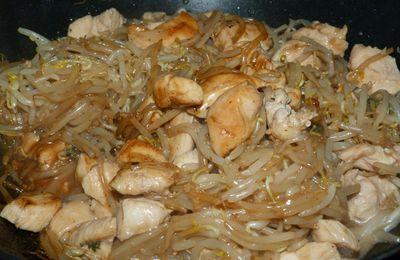 Sauté de poulet pousses de soja (zembérique)