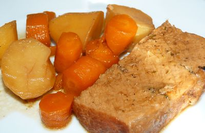 Rôti de porc en cocotte et ses légumes