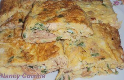 Omelette farcie.