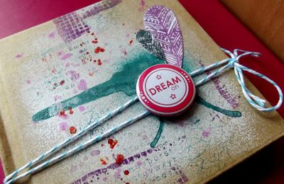 DT Cre8tive Cre8tions , tutorial wednesday: carnet altéré