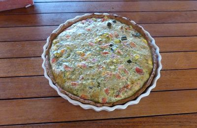 Tarte courgettes -menthe