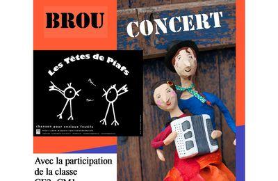 Concert des Têtes de Piafs le 14 mai à Brou