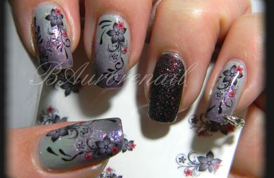 Nail art stickers fleur (nouvelle generation)