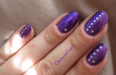 Nailart foil abstrait