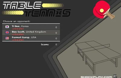 Jeux de ping pong - Table tennis