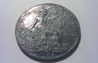 "-One Penny 1905 ""EDWARD VII"""