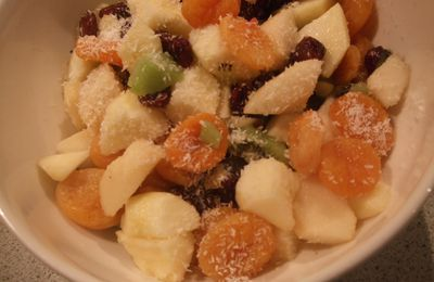 salade de fruits au thé