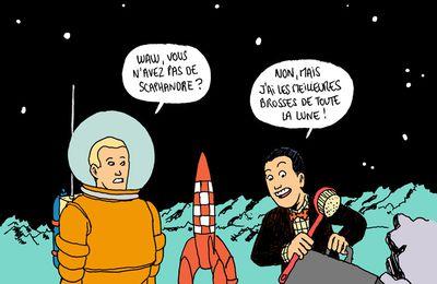 On a démarché sur la lune