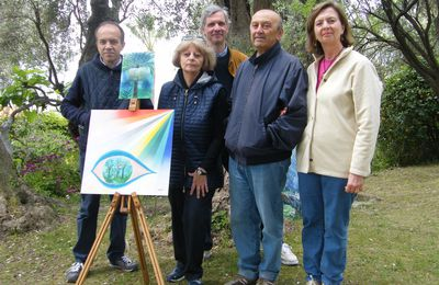 April 25 2014: Open Air Painting Day at Villa Pompeo Mariani, Bordighera