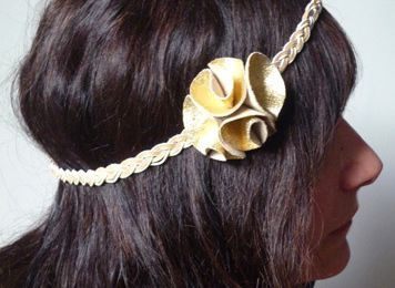 Tuto : Headband en cuir doré
