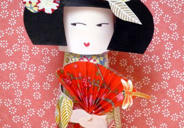 Paper toy Kokeshi Home Made