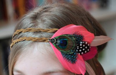 Diy: head band en plumes