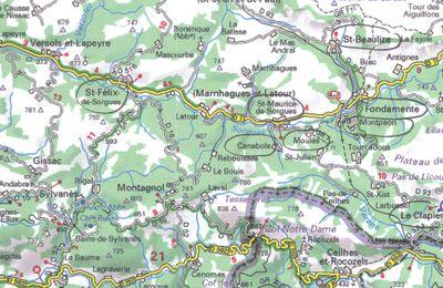 Saint-Félix de Sorgues, Saint-Maurice de Sorgues, Canabols, Moulès, Montpaon, Fondamente, Le Clapier, Saint-Beaulize (12-Aveyron)