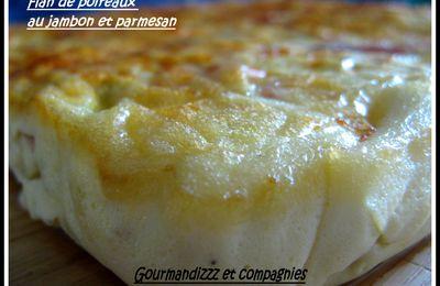 flan de poireaux et jambon au parmesan