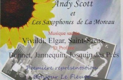 Concert de La Chantonge et des Saxophones de Moreau à Fontenet (5.04.2012)