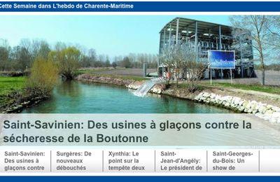 Des usines à glaçons contre la sécheresse de la Boutonne (29.03.2012)