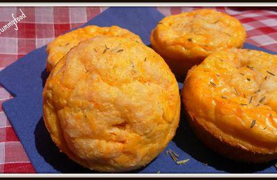 Ronde interblog #20: Mini cakes moelleux courgette carotte et Emmental كيك بالقرع و الجزر و الجبن