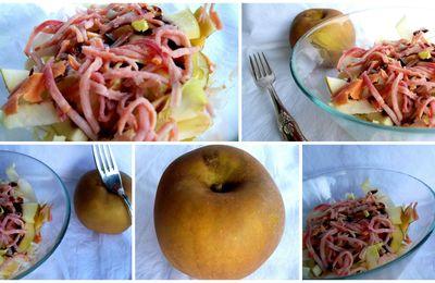 Salade d'endives aux pommes et jambon fumé