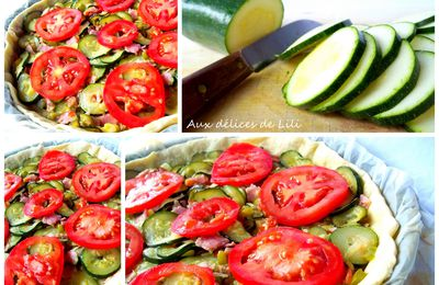 Ronde interblog #22 Tarte courgettes/tomates