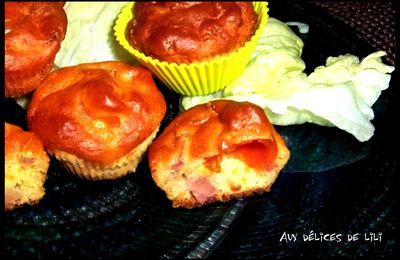Muffin tomate, bacon et parmesan