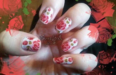 "Nail art ""Porcelaine"""