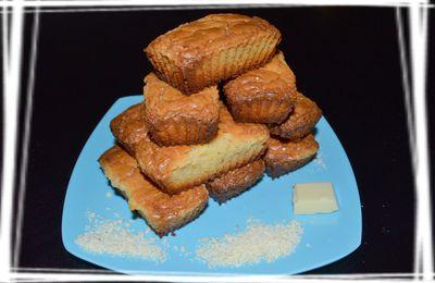 Mini cakes au chocolat blancs