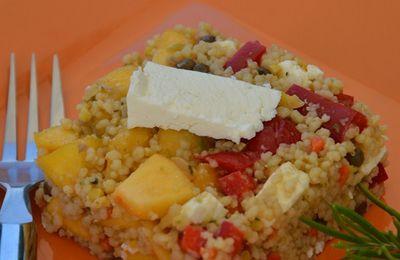 Salade de boulgour féta et nectarine