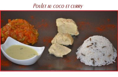 Poulet au coco et curry