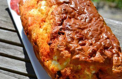 Cake féta et chorizo