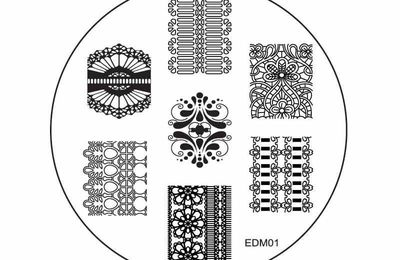 Fleurs Vitrail - Stamping Plates Emily de Molly