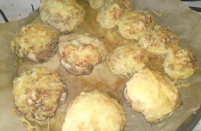 Champignons farcis, pomme de terre farcies