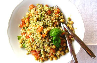 Tabbouleh, ma con grano saraceno...