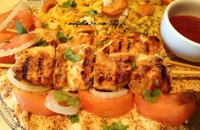 Chich taouk (brochette de poulet marinée à la libanaise)