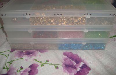 nouveaux rangement perles au rayon bricollage
