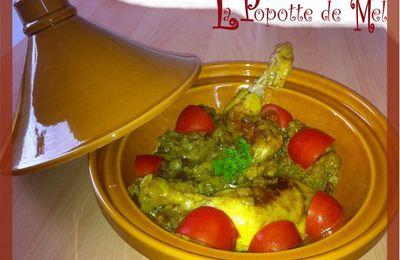 Tajine de poulet aux oignons et raisins caramelisés
